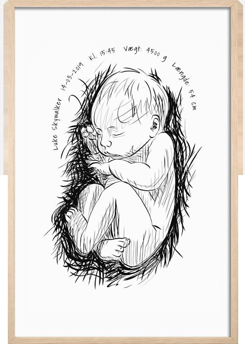 birthposter fødselsplakat framethebaby